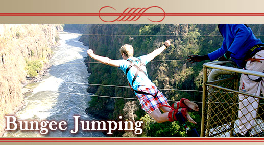 Bungy: Jump off the Victoria Falls Bridge. Only for the brave hearted! Water Wizz Zip Line